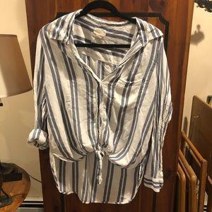American Eagle striped blouse
